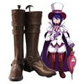 Ao no Exorcist Blue Exorcist Mephisto Pheles Cosplay Zapatos Botas de Color Marrón Oscuro Tamaño Personalizado