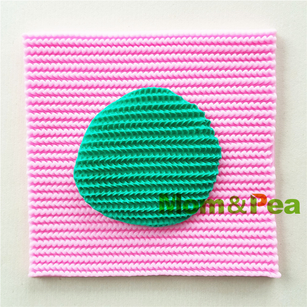 Mom&Pea 0984 Free Shipping Knitted Pattern Shaped Silicone Mold Cake ...