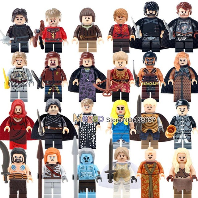 Single Sale  Game of Thrones Jon Snow Lord Varys Khai Drogo Ygritte Bricks Building Blocks Juguetes Christmas Gift Toys