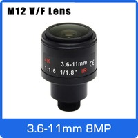8 ميجابيكسل M12 جبل فاريفوكال 4K عدسة 1/1.8 بوصة 3.6-11 مللي متر التركيز اليدوي والتكبير ل IMX274/IMX178/IMX334/OS08A10 CCTV IP كاميرا
