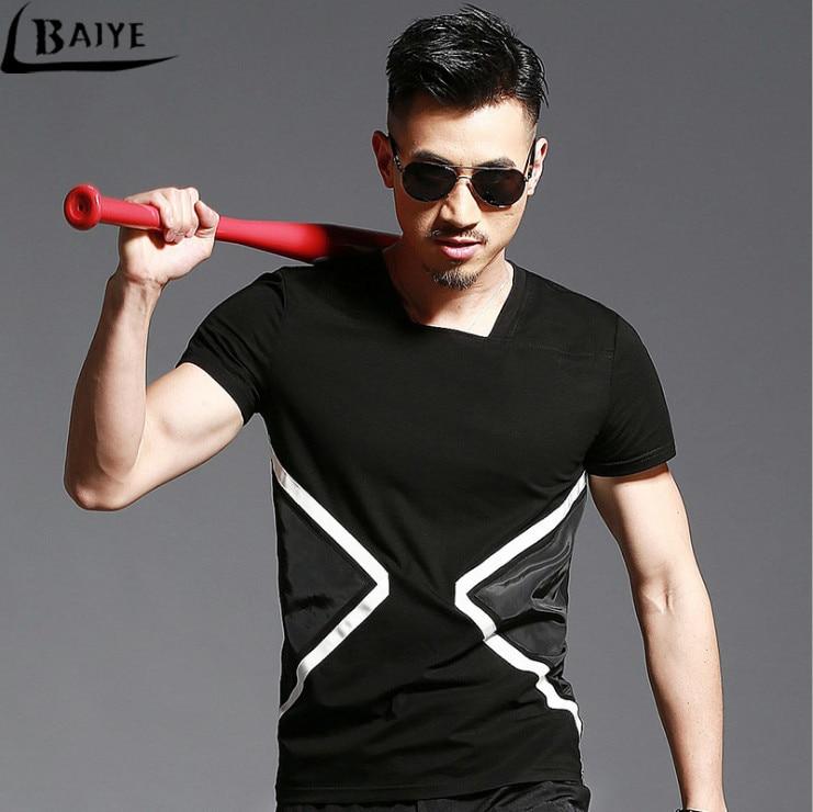 TBAIYE Moda de lujo Nueva camiseta ocasional de algodón Hombres - Ropa de hombre - foto 1