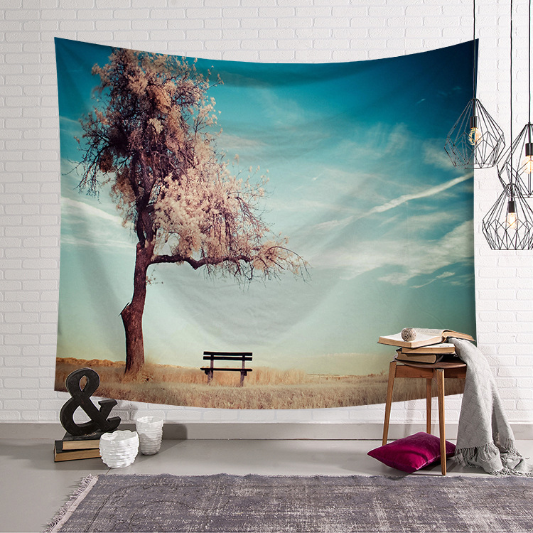 Image 3 - CAMMITEVER Natural Scenic Trees Bridge Tapestry Wall Hanging Landscape Wall Tapestries Mandala Bohemian Throw-in Tapestry from Home & Garden