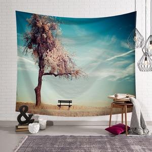 Image 3 - CAMMITEVER Natural Scenic Trees Bridge Tapestry Wall Hanging Landscape Wall Tapestries Mandala Bohemian Throw
