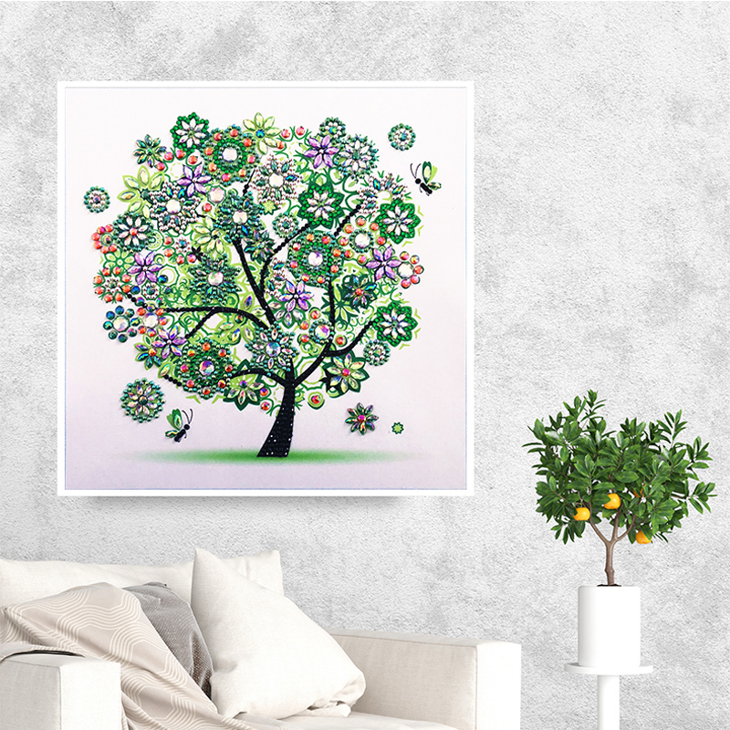 RUBOS DIY 5D Diamond Embroidery Colorful Tree Butterfly Bead Diamond Painting Cross Stitch Pearl Crystal Sale Hobby Gift Decor (6)