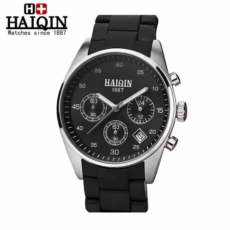 ФОТО HOT sale Mens Watches Top Brand Luxury HAIQIN Men Military Sport Luminous Wristwatch Chronograph Quartz Watch relogio masculino