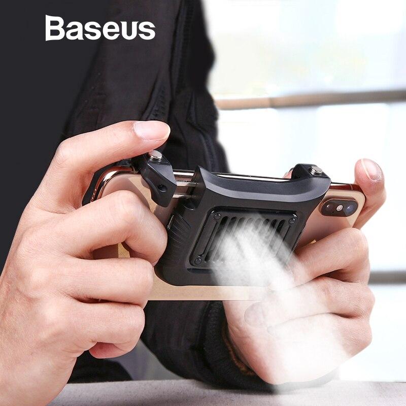 Baseus Joystick Gamepad de gatillo fuego manija botón para PUBG Android Teléfono Móvil IOS juego tirador controlador y ventilador