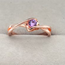 302b875e99 gold Rings for woman AAA Purple Zircon Glamour Lady Jewelry Wholesale  Christmas presents Couple ring wedding