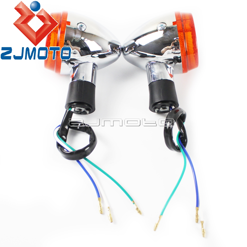 1 Pair Front Motorcycle Turn Signal Lights For Honda Shadow 400 750 2011 Wiring Vt750 04 07 Indicator Blinkers On Alibaba Group
