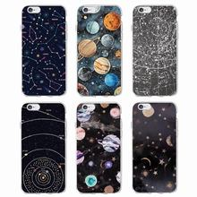 Outer Space Planet Spaceship Constellation Stars Moon Soft Clear Phone Case For iPhone 7 7Plus 6 6S 6Plus 5 5S SE 5C SAMSUNG(China)