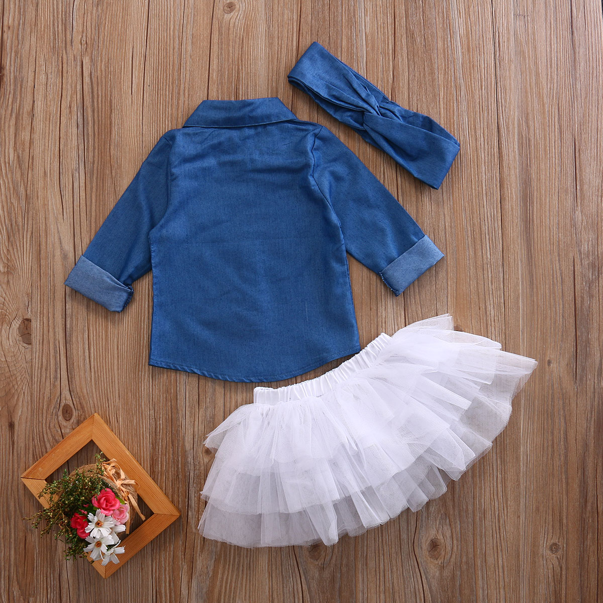 Girls-Tops-Shirt-Tutu-Skirts-Ruffles-Cute-Party-3pcs-Outfits-Clothing-Set-Toddler-Kids-Baby-Girl-Clothes-Set-Denim-5
