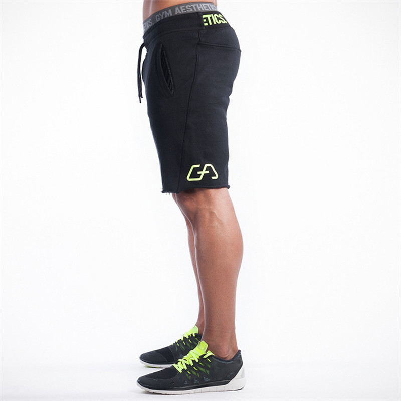 Summer leisure shorts men trousers elastic brand men shorts mens fashion fitness outer wear trousers at