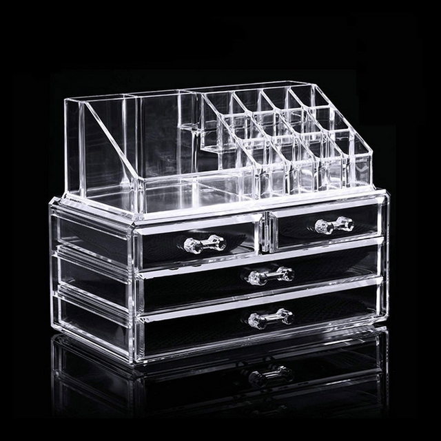 Mordoa Acrylic Makeup Organizer Storage Box Cosmetics Locker Clean