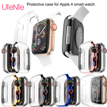 40mm width case For Apple 4 smart watch Transparent silicone dial protection accessories Hard Protective film