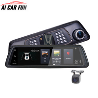 4G Android Mirror GPS FHD 1080P Dual lens Streaming Media 10 Inches HD Smart Navigation Rearview Recorder ADAS Bluetooth WIFI