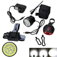 New Real 60000Lm Front Cycling Light Rechargeable Bike Light Headlamp With AC Charger 18650 Battery Headband