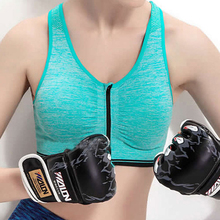 2017 Cropped Sujetador Deportivo Strappy Bra Professional Intensive Training Snow Sports Bra Open Front Zipper-style Underwear