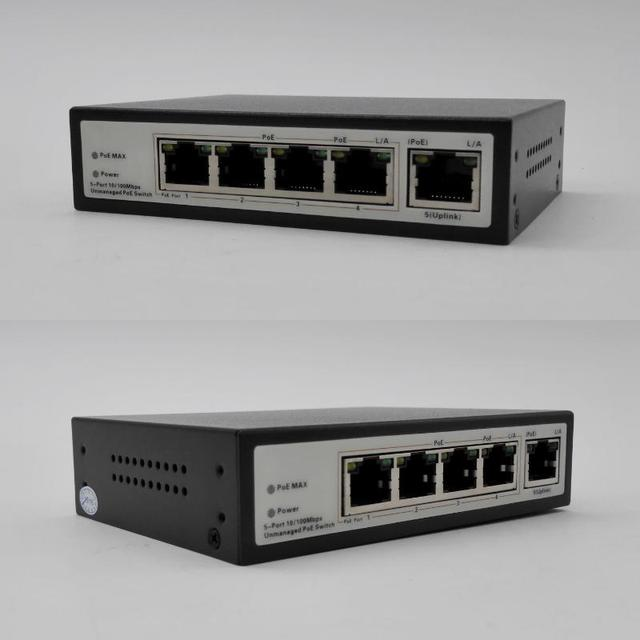 4-Port PoE Net Switch/Power Over Ethernet PoE&Optical Transmission For IP Camera System Switches for POE Camera