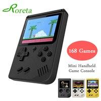 Roreta мини игровая консоль 8 бит Ретро Карманный ручной игровой плеер встроенный 168 для детей Ностальгический плеер классические игры