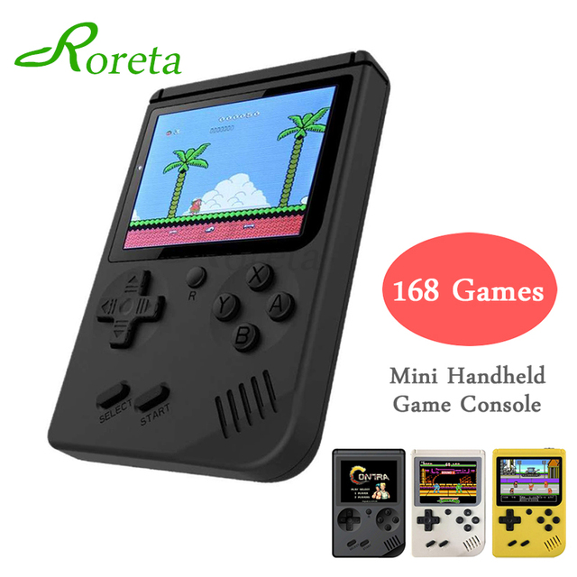 Roreta Mini Video Game Console 8 Bit Retro Pocket Handheld Game Player Built-in 168 for Child Nostalgic Player Classic Games