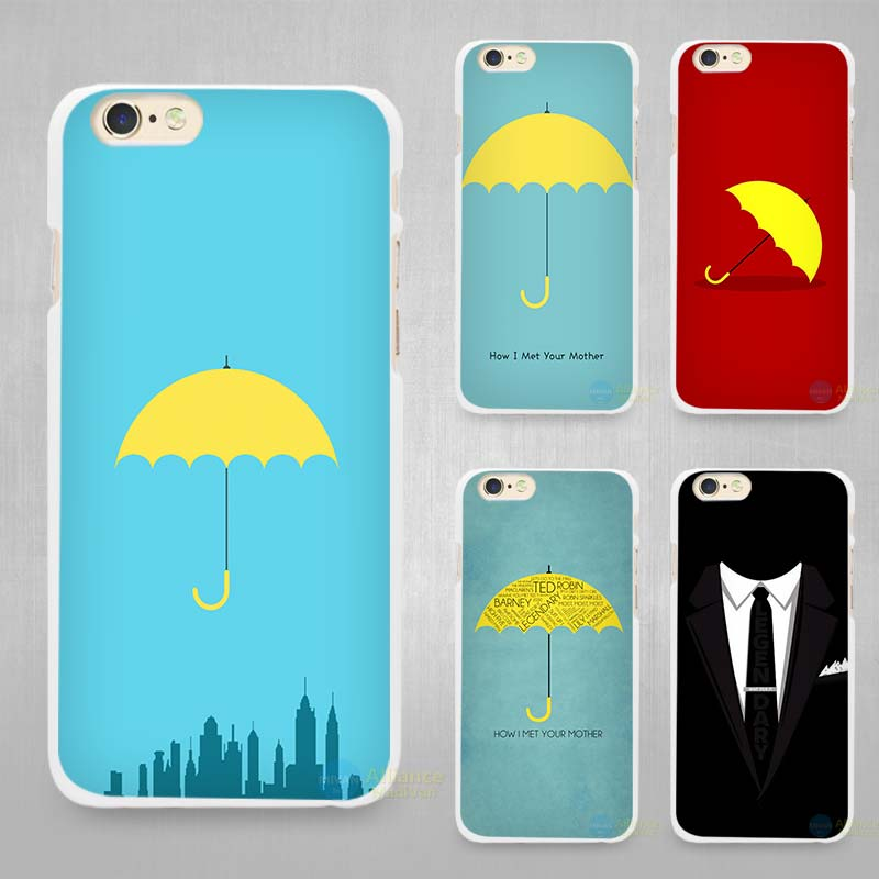 How I Met Your Mother Hard White Cell Phone Case Cover for Apple iPhone 4 4s 5 5C SE 5s 6 6s 7 8 Plus X