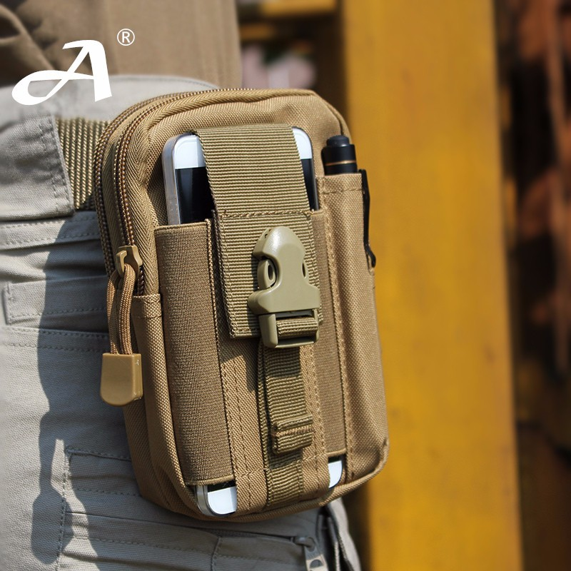 Outdoor Tactic Waterproof Military Belt Waist Bag For LG K10 (2017)/Fortune/Stylo 3/Q6/K4 LTE/G5/X Screen/Stylo 2/X View