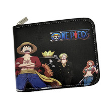 Free Shipping Round Zipper Wallet Comics One Piece   Hero Captain America Wallets With 6 Cards Holder Purse