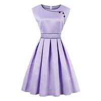 Sisjuly Vintage Dresses 1950s Party Women Clothing Retro O Neck Knee Length Summer Lady Sleeveless A