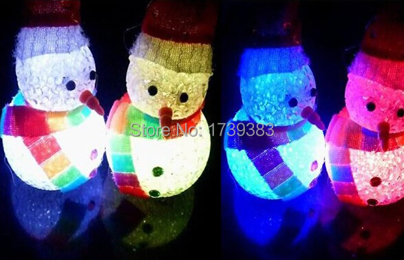 led colorful crystal christmas snowman night lightlovely creative childrens christmas giftchristmas decorate mood lamp light in led night lights from