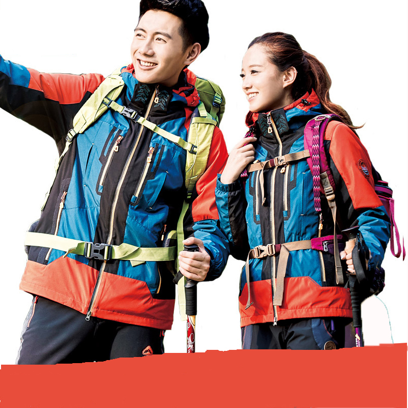 2016 New winter outdoor 3 in 1 Jackets men and women couple climbing clothes warm breathable clothing free shipping цены
