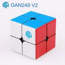 GAN249 V2 rompecabezas velocidad mágica cubo 2x2x2 profesional bolsillo de bloque GAN imán cubo sin etiqueta cubo cubo mágico gans juguetes para niños