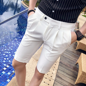 Summer Hot Candy color Men Bermuda White Shorts