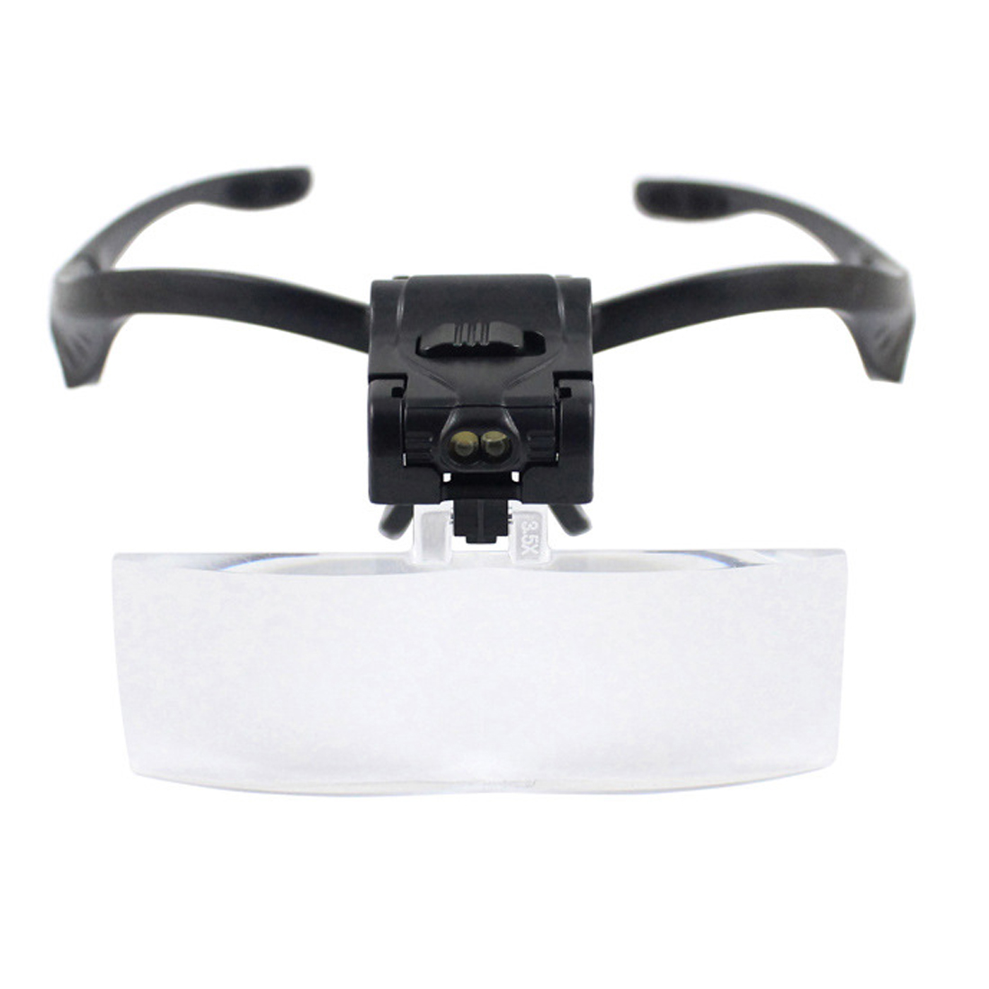 Magnifier Headband Magnifying Glass Eye Repair Magnifier 2 LED Light 1.0/1.5/2.0/2.5/3.5X 5PC Glasses Loupe Optical Lens 2pcs 150mm big optical pmma plastic round solar condensing compound eye fresnel lens improving brightness of light focal length