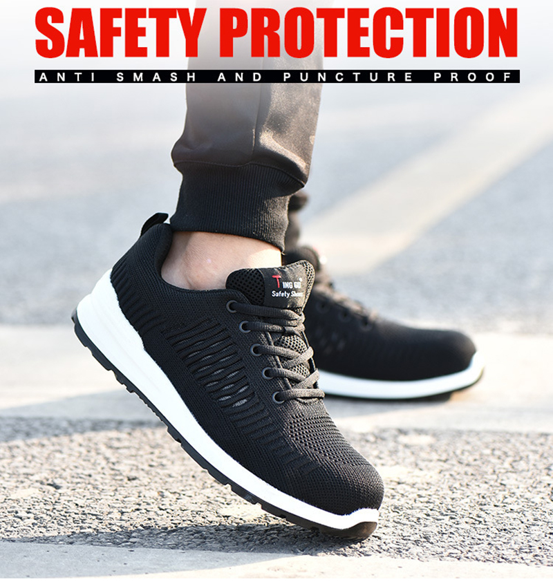 New-exhibition-Flying-mesh-Breathable-Steel-Toe-Cap-Safety-Shoes-Men-anti-pierce-Injection-bottom-work-Safety-boots-2019-Sneaker (9)