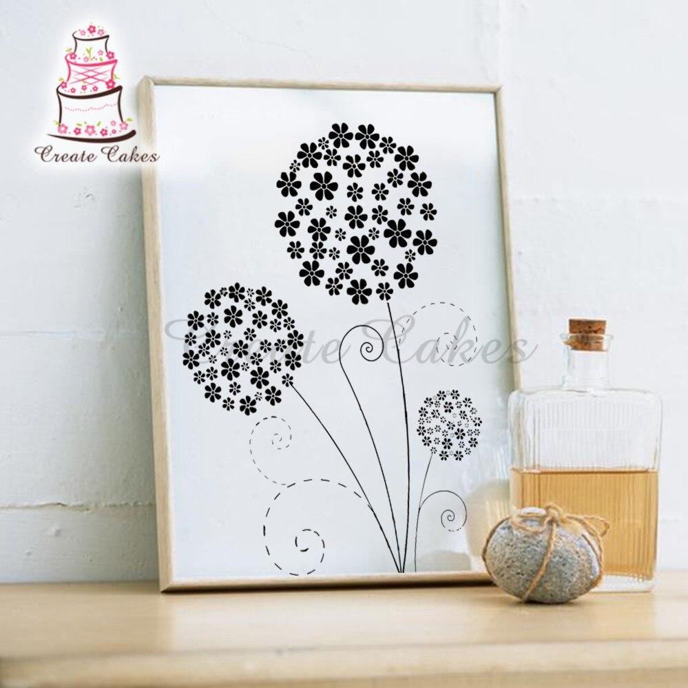 100 Food Grade Flower Large Wall Stencil Plastic Patting Stencil