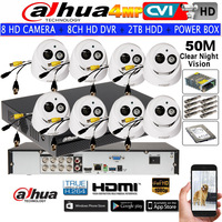 Dahua 4MP HAC HDW2401EMP CVI Security CCTV Camera Waterproof Dome Camera 8CH DH HCVR7108H 4M IR