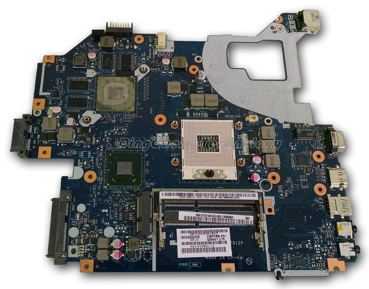 HOLYTIME laptop Motherboard For Acer V3-571 <font><b>Q5WV1</b></font> <font><b>LA</b></font>-<font><b>7912P</b></font> REV 2.0 NBM6A11001 NB.M6A11.001 GT640M/2GB DDR3 image