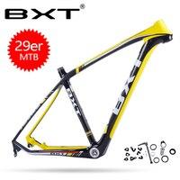 BXT углерода mtb велосипедная Рама из углеродного сплава рама четыре Цвет горный велосипед Bicicletas 29 ВЕЛОСИПЕДЫ mtb карбоновая рама 29er через мост
