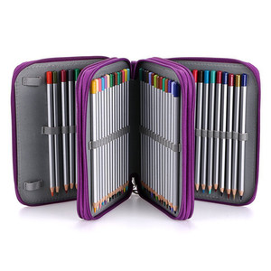 Image 2 - Oxford Penalty School Pencil Case Big Pen Case Bag 72 Holes Pencilcase 3 Layer Pencil Box Pouch for Girls Boys Art Stationery