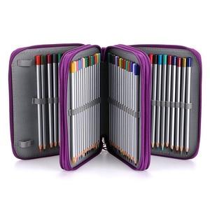 Image 2 - Oxford Phạt Học Chì Lớn Bút Túi 72 Lỗ Pencilcase 3 Lớp Hộp Bút Chì Túi Cho Bé Gái Bé Trai NGHỆ THUẬT Văn Phòng Phẩm