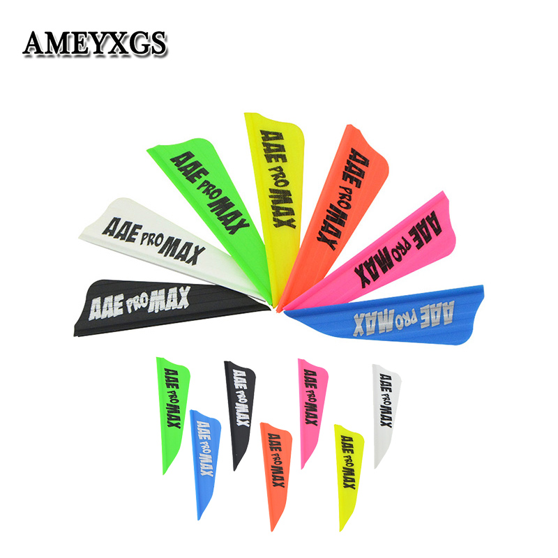 30pcs Archery 1.75inch Rubber Arrow Feather 8 Colors Right Wing Shield Feather For Outdoor Shooting Sports Accessories-in Bow & Arrow from Sports & Entertainment