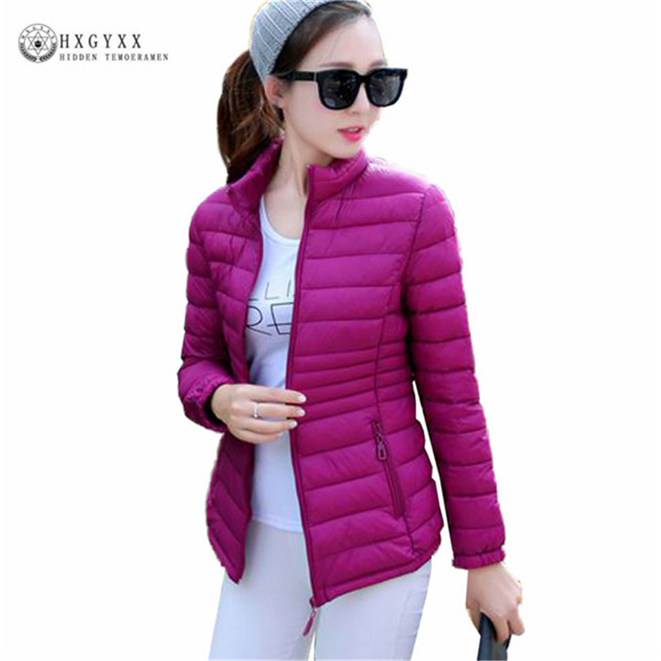 Warm Quilted Jacket Women Winter Plus Size Coat 2017 New Solid Zipper Short Outerwear Long Sleeve Slim Padded Cotton Parka OK384