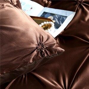 Image 4 - LOVINSUNSHINE مجاميع راحة الفراش مزدوجة لحاف مجموعة غطاء الملك الحجم الفاخرة الحرير المعزي غطاء AC03 #