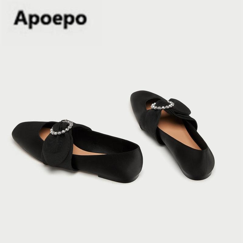 Zapatos Toe Cómodo Nueva Mariposa Más Marca Ballet Janes De Crystal wzx08qwR