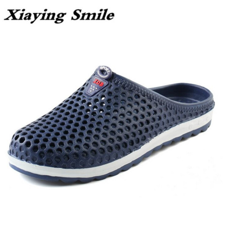 2017 Hot Sale Summer Classic Men Outdoor Casual Flats Sandals Cheap Top Quality Non-slip Slippers Hole Shoes Beach Shoes