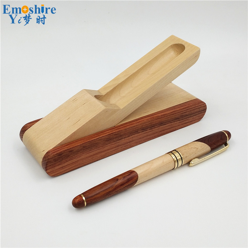 Emoshire Factory direct sales mahogany pieces of wood signature pen suits wooden pen box creative gift customization (14)