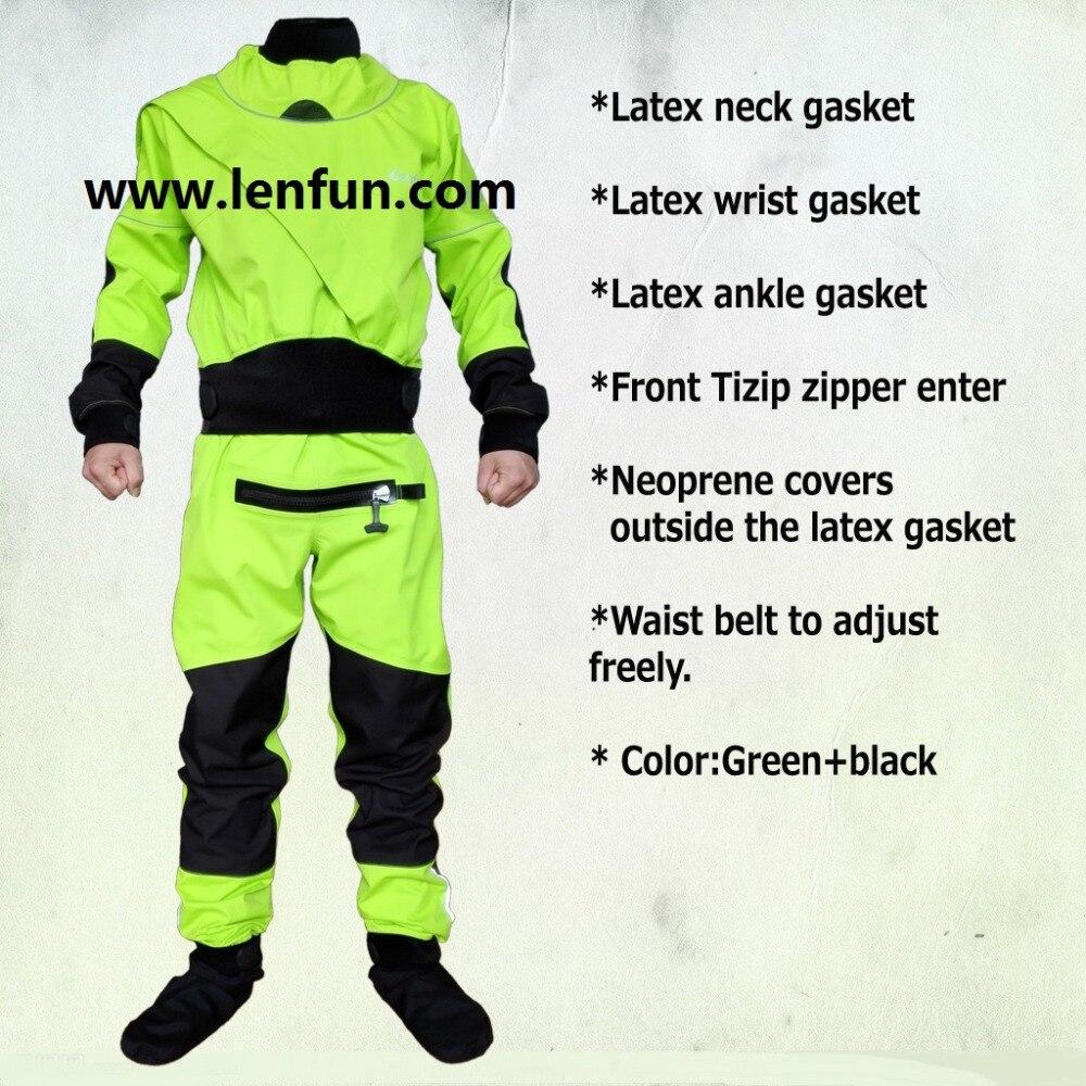 UNISEX Dry Suit Latex Neck/wrist,attached Socks For Whitewater,kayak,rafting,kateboarding,canoeing,fishing Waterproof Socks