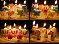 5 Pieces/lot Creative Cartoon Party Cake/ Cupcake Toppers Kawaii Butterfly Animals Fruits Parties Candle Party Supplies LZ15