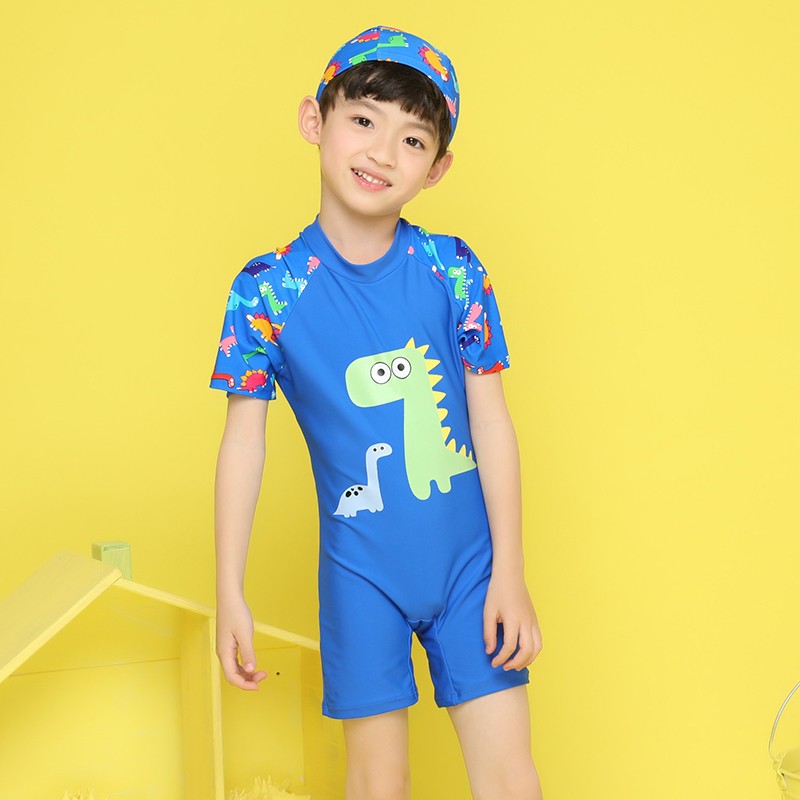 Hy81766 Children Swimwear One Piece Bathing Suit Cartoon