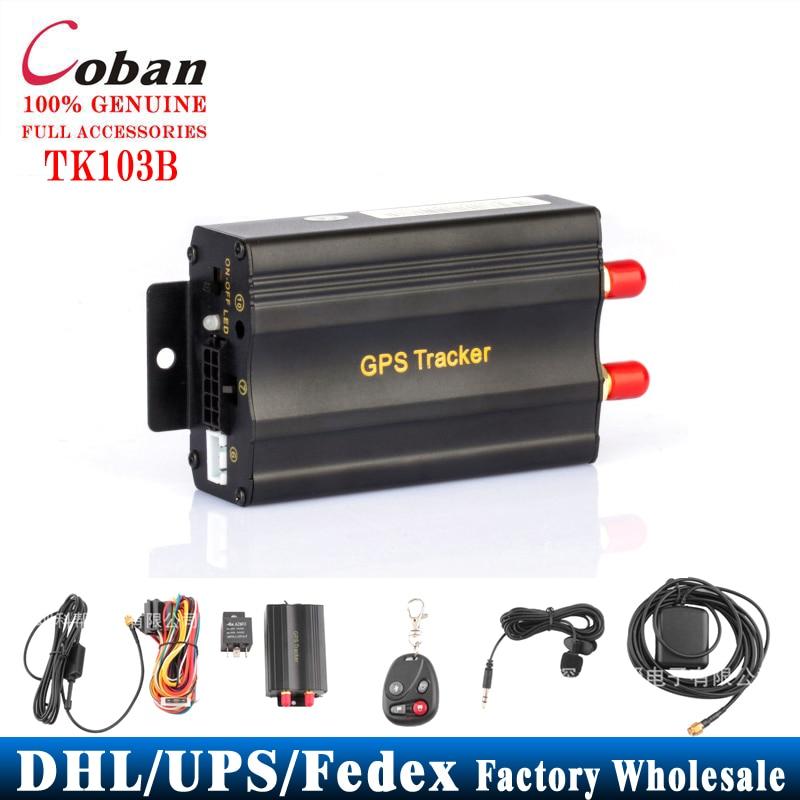 10 PCS lot Coban Car Tracker GPS TK103B Remote Control Rastreador Veicular Portoguese Manual PC Web