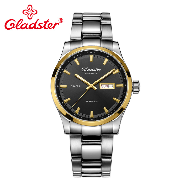 Gladster Luxury Brand Exquisite Automatic Mechanical Men Watch Stainless Steel Male Wristwatch Calendar Waterproof Men Clocks ailang men mechanical watch luxury brand waterproof automatic wristwatches men s stainless steel mechanical wristwatch a088
